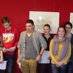 Unsere Gruppe mit dem Projektcoach Herrn Niefind (links) und dem Archivar Herrn Opalka (rechts)